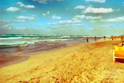 Cobwebs Painting - Cuba Beach by Odon Czintos