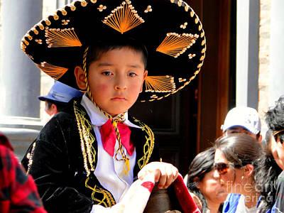 Caballero Photograph - Cuenca Kids 183 by Al Bourassa