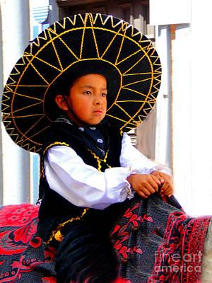 Caballero Photograph - Cuenca Kids 194 by Al Bourassa