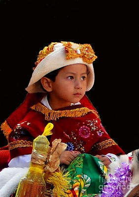 Smiling Jesus Photograph - Cuenca Kids 196 by Al Bourassa
