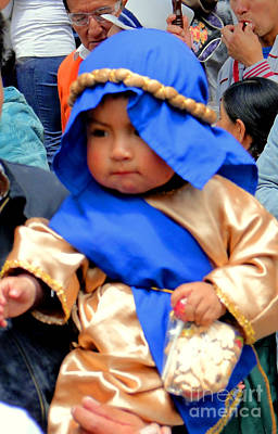 Smiling Jesus Photograph - Cuenca Kids 50 by Al Bourassa