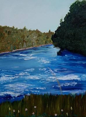 Cumberland River Painting - Cumberland River Rainbow by Carol Van Sickle