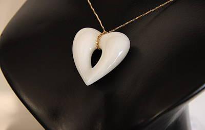 Ciondolo Jewelry - Cuore Bianco by Emanuele Rubini
