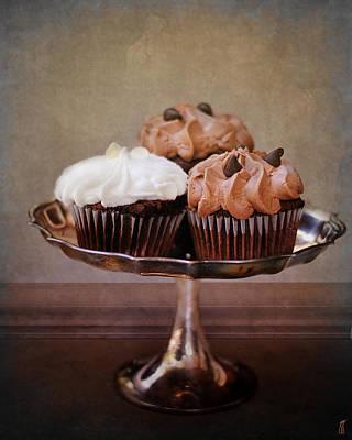 Cupcake Trio Print by Jai Johnson