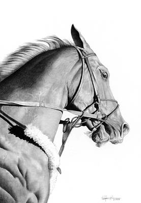 Curlin Print by Christopher A Newman