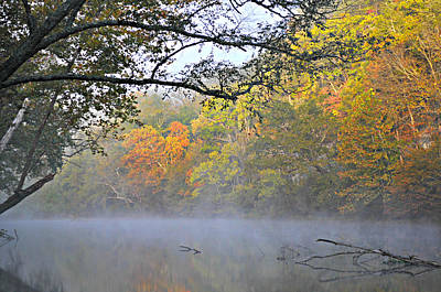 Current River Fall 44r Print by Marty Koch