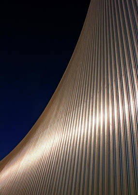 Built Structure Photograph - Curved Cladding by Kevin Button