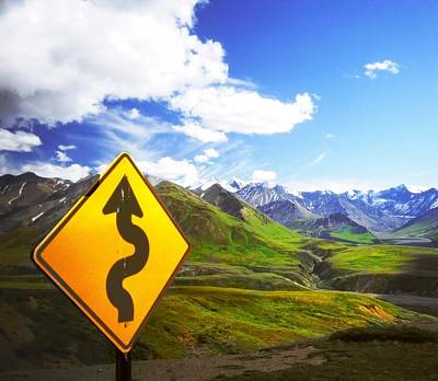 Curves Ahead Print by Ulrich Mueller
