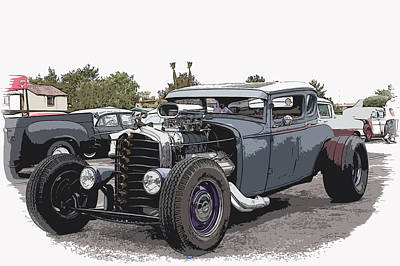Custom Model A Coupe Print by Steve McKinzie