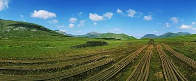 Cut Turf On A Landscape, Connemara Print by The Irish Image Collection
