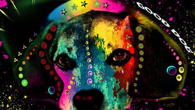 Dog Abstract Art Digital Art - Cute Dog  by Mark Ashkenazi
