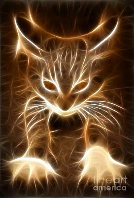Cute Little Kitten Print by Pamela Johnson