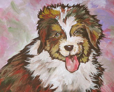 Puppy Painting - Cutie Pie by Sandy Tracey