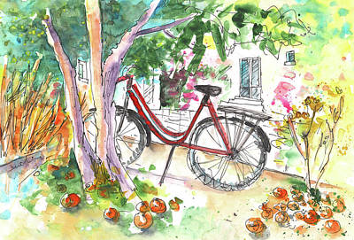Cycling In Cyprus Print by Miki De Goodaboom