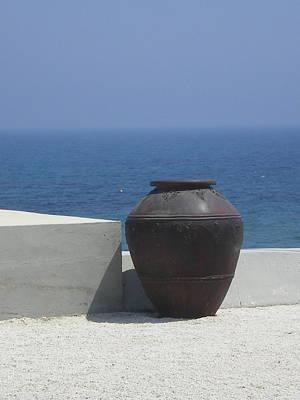 Cyprus Pot Print by Margaret Reeves Rendle
