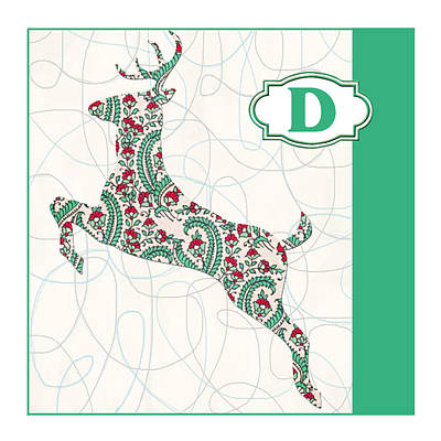 Education Painting - D Is For Deer by Elaine Plesser