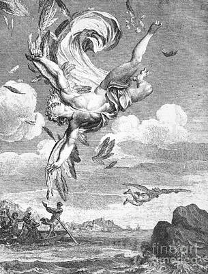 Daedalus And Icarus Print by Granger