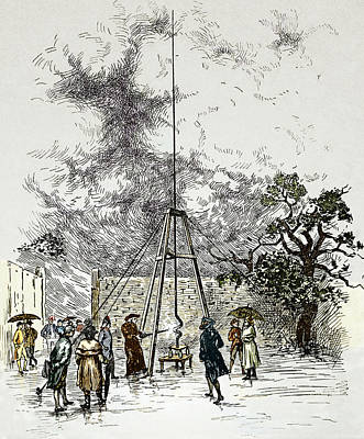 Dalibard's Lightning Experiment, 1752 Print by Sheila Terry