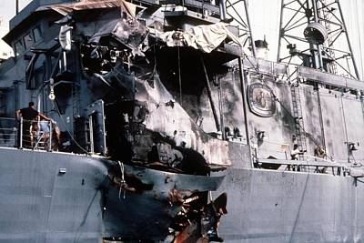 Damage Sustained By The Guided Missile Print by Everett