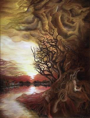 Tablou Painting - Dan Scurtu - Sunset by Dan Scurtu