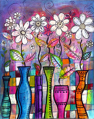 Vase Painting - Dance Into The Light by Robin Mead