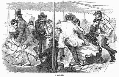 Dance: Polka, 1858 Print by Granger