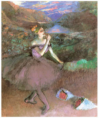 Ballet Painting - Dancer With Bouquest by Edgar Degas