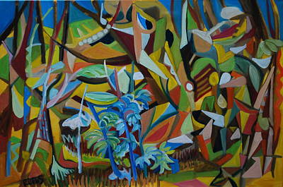 Painting - Dancers Of The Forests by Rufus Norman