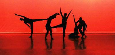 Dancing In Red Print by Kenneth Mucke