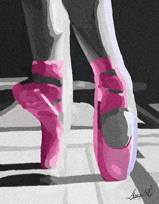 Dancing On Pink Satin Print by Lance  Kelly
