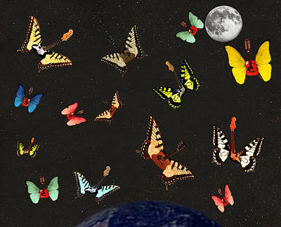 Lepidopterans Digital Art - Dancing With The Stars by Eric Kempson