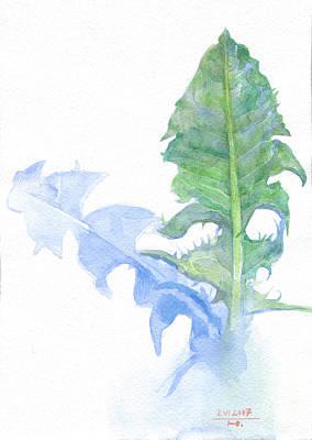 Racei Painting - Dandelion Foliage. 2007 by Yuri Yudaev