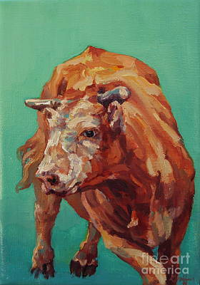 Steer Painting - Dante by Patricia A Griffin
