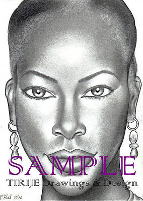 Tattoo Stencils Drawing - Dark  And Lovely by Rick Hill