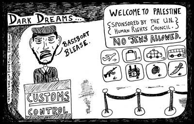 Jihadi Drawing - Dark Dream Of Palestine by Yasha Harari