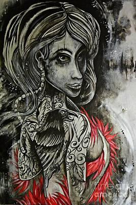 Dark Inked Icon Print by Sandro Ramani