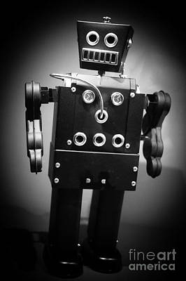Dark Metal Robot Print by Edward Fielding