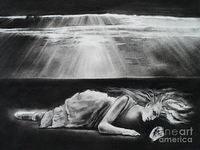 Shine Drawing - Darkness Falls Upon Me by Carla Carson