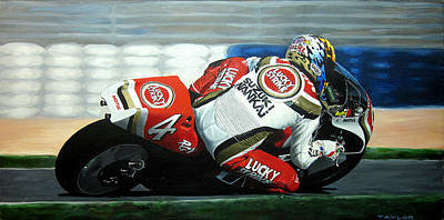Daryl Beattie - Suzuki Motogp Print by Jeff Taylor
