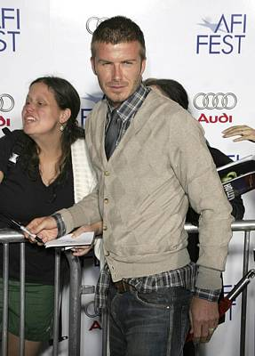 David  Beckham At Arrivals For Lions Print by Everett