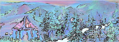 Dawn In The Sapphire Mountains Print by Deborah Montana