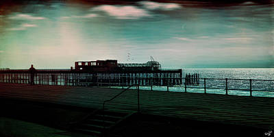 Dawn On The Seafront At Hastings Print by Chris Lord