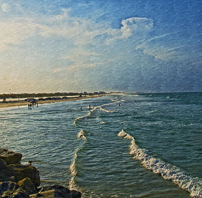 Photograph - Day At The Beach by Barbara Middleton
