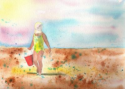 Baseball Cap Painting - Day At The Beach by Sharon Mick