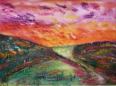 Prairie Painting - Day Break by James Bryron Love