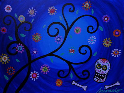 Skulls Painting - Day Of The Dead Garden 2 by Pristine Cartera Turkus