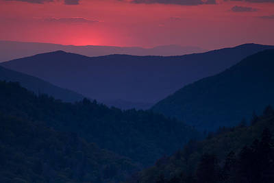 Day Over In The Smokies Print by Andrew Soundarajan