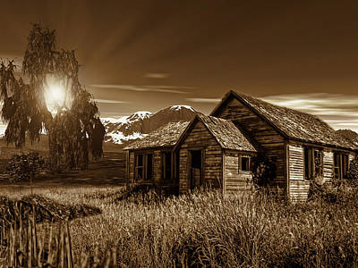 Old Barns Photograph - Days Of Yore by Lourry Legarde