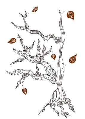 Botanical Art Drawing - Dead Wood by Frank Tschakert