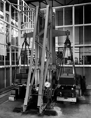 Tons Of Photograph - Deadweight Machine, 1953 by National Physical Laboratory (c) Crown Copyright